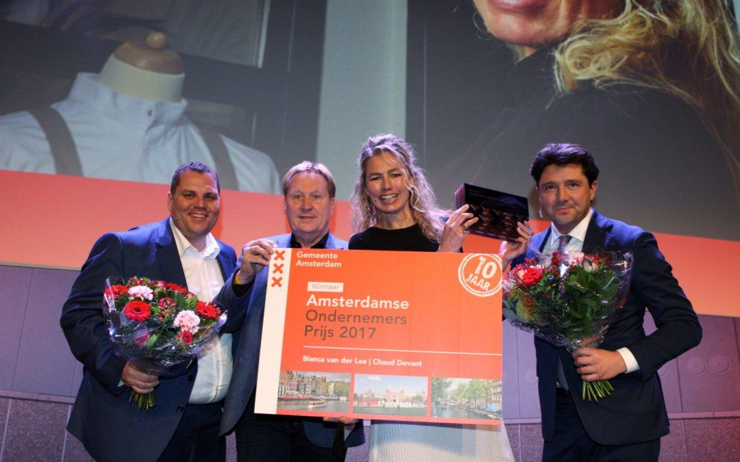Bianca van der Lee (Chaud Devant) wint 10e editie Amsterdamse Ondernemersprijs 2017