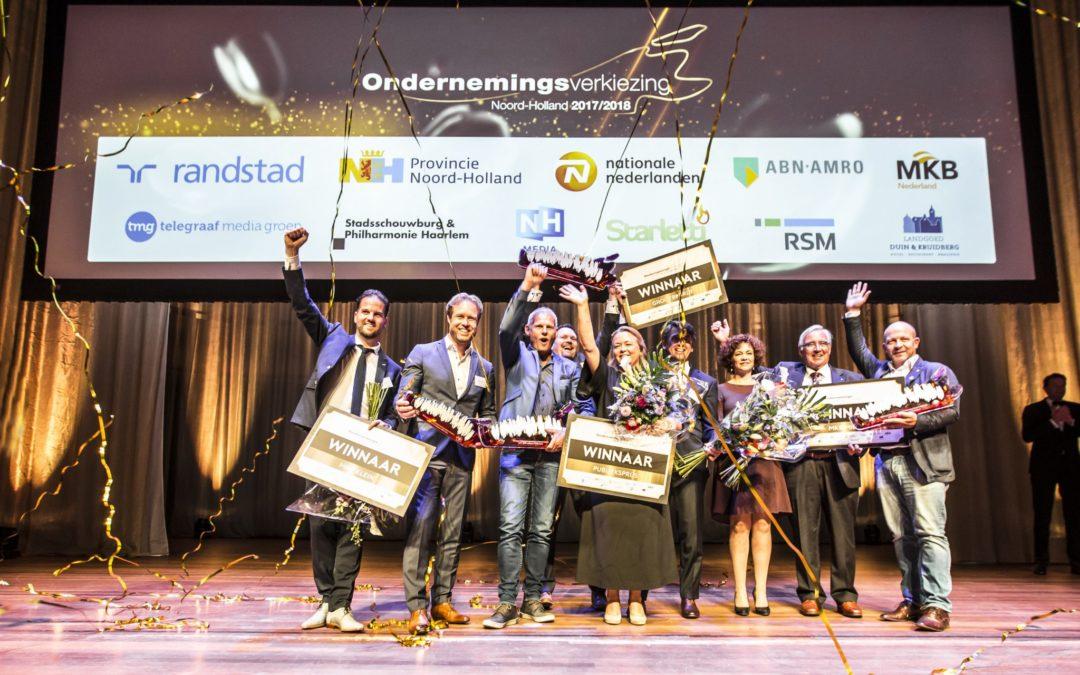 MKB Nederland feliciteert winnaars Ondernemingsverkiezing Noord-Holland