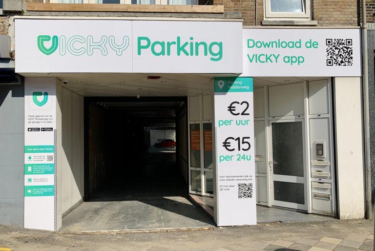 Vicky Parkeerapp, slim parkeren buiten de lijntjes