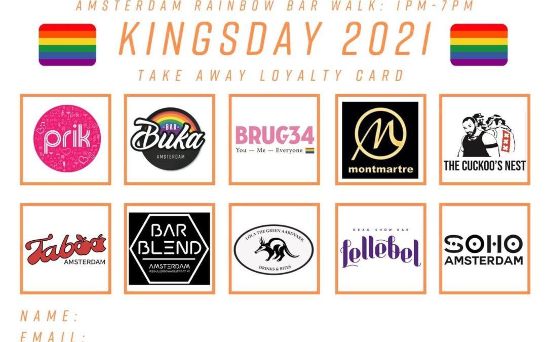 Rainbow Bar Walk 2021: Koningsdag dit jaar niet alleen oranje