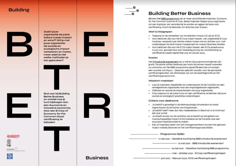Building Better Business Introductie-event