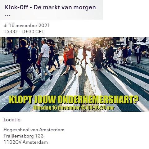 Kick-off – De Markt van Morgen, 16 november 2021